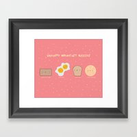 Unhappy Breakfast Buddie… Framed Art Print