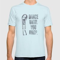 Dance dance dance Mens Fitted Tee Light Blue SMALL
