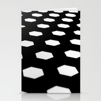 hexagon. Stationery Cards