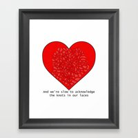 Heart It Races Framed Art Print