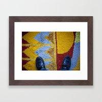 Shoes Rug Framed Art Print
