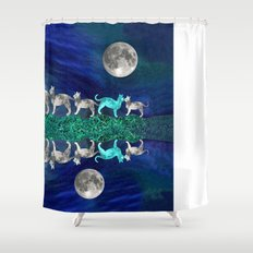 MOON CATS Shower Curtain