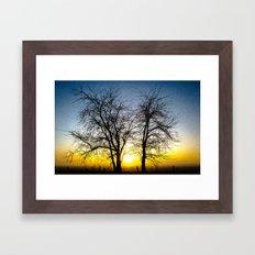 Foggy sunrise Framed Art Print