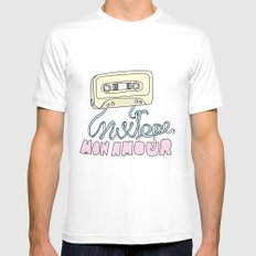 Mixtape mon amour Mens Fitted Tee White SMALL