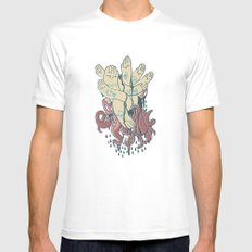 hands! print Mens Fitted Tee SMALL White