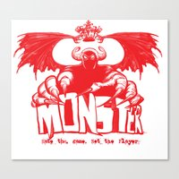 Game monster  Canvas Print
