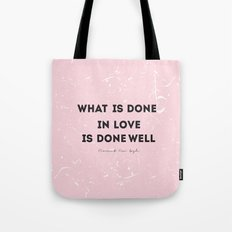 Quote Vincent Van Gogh Tote Bag