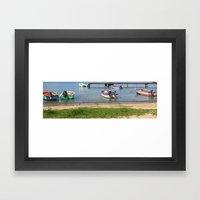 Boats in a Row Framed Art Print