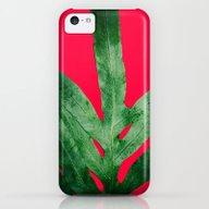Green Fern On Bright Red iPhone 5c Slim Case
