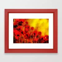 FLOWERS - Poppy reverie Framed Art Print