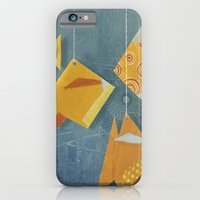 iPhone & iPod Case featuring Clovis sleeping with fish by Sonia Poli