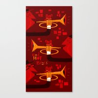 Red Hot Brass Canvas Print