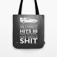 Tote Bag featuring Back to the Future Serious Sh^t by Tom Ryan's Studio