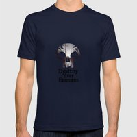 Destroy your Enemis Mens Fitted Tee Navy SMALL