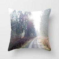 Shining Wood. Throw Pillow
