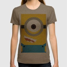 Simple Heroes - Minion Womens Fitted Tee Tri-Coffee SMALL