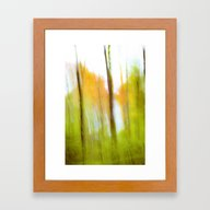 Autumn Abstract Framed Art Print