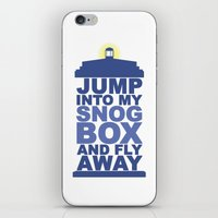 Snog Box (Tardis) iPhone & iPod Skin