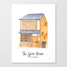 The gion house Canvas Print