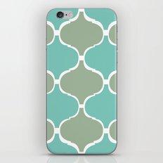 Marrakech Pattern Sea Green iPhone & iPod Skin