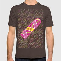 Hoverboard Mens Fitted Tee Brown SMALL