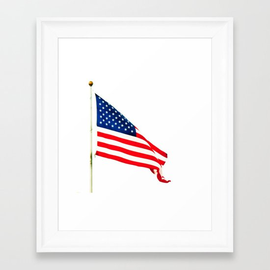 Abstract American Flag Framed Art Print
