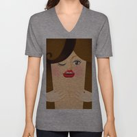 Lola Brown Unisex V-Neck