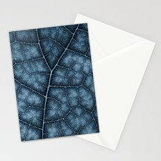 Blue Leaf Stationery Cards