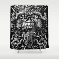 Aztec Skull Shower Curtain