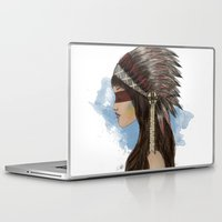 native american Laptop & iPad Skins featuring Native american by Erika Leiva