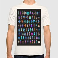 Pixel Heroes Mens Fitted Tee Natural SMALL