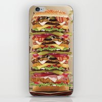 Hamburger Tower iPhone & iPod Skin