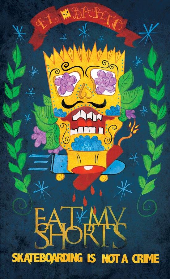 EAT MY SHORTS Art Print