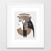 EGYPTIAN GODDESS Framed Art Print