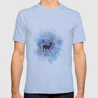 Somewhere In The Snow Mens Fitted Tee Athletic Blue SMALL