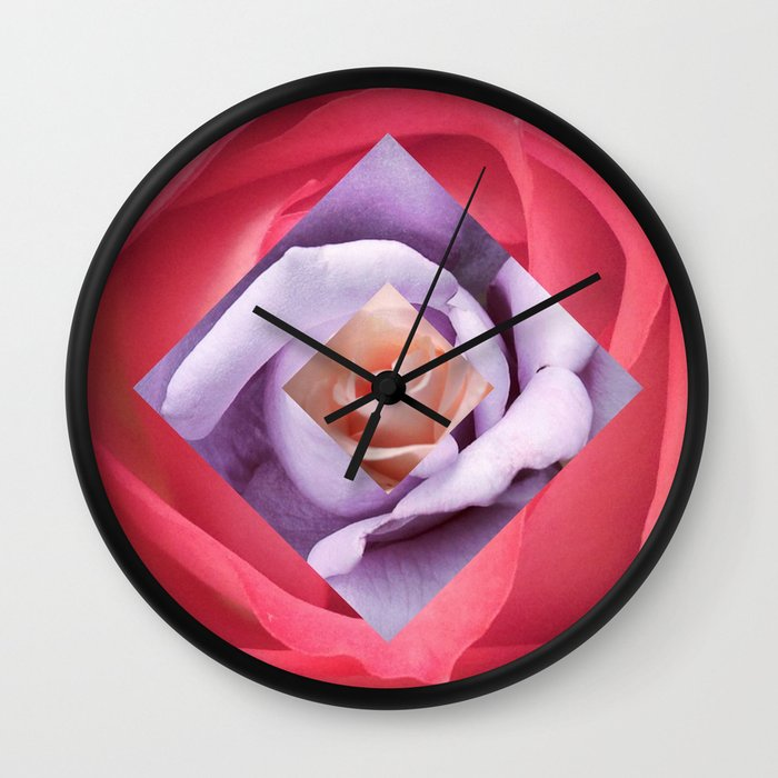 Diamond Design Wall Clock : Rose diamond wall clock by adh graphic design society