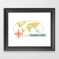 The World Is A Book Framed Art Print