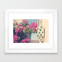 Nature and polka dots Framed Art Print