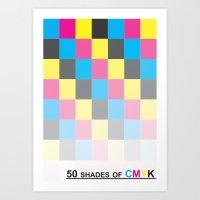 50 shades of CMYK Art Print