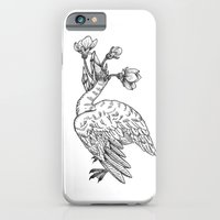 iPhone & iPod Case featuring cigno e cristalli by bloodpurple