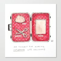 Don't Leave Home Without… Canvas Print