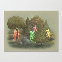 Wild Gummy Bears Canvas Print