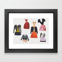 What Shall I Wear Today? Framed Art Print