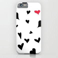 black hearts with one pink one  iPhone 6s Slim Case