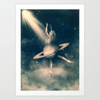 When Saturn Starts Danci… Art Print