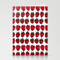 Little Strawberries Stationery Cards