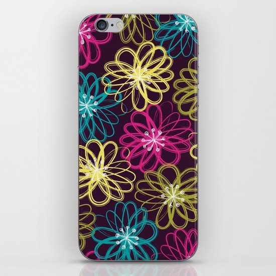 Drybrush Floral iPhone & iPod Skin