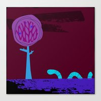 Where does the wiggly worm wander? Canvas Print