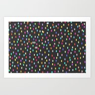 Art Print featuring A Universe Of Colorful D… by Shirley Starsss