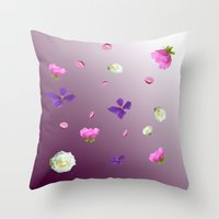 Blooming sky Throw Pillow